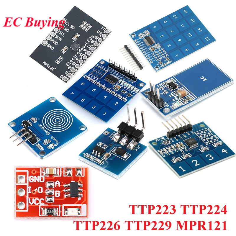 TTP223 TTP224 TTP226 TTP229 MPR121 V12 Digital Switch Touch Module 1 4 8 16 Channel Capacitive Touch Sensor Module For Arduino