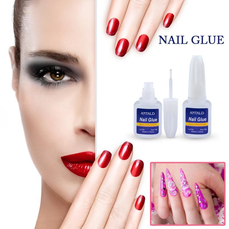 10 г быстросохнущий клей для ногтей с кисточкой для накладных ногтей Блестящий Стразы 3D украшение высокое качество макияж Косметические Инс...