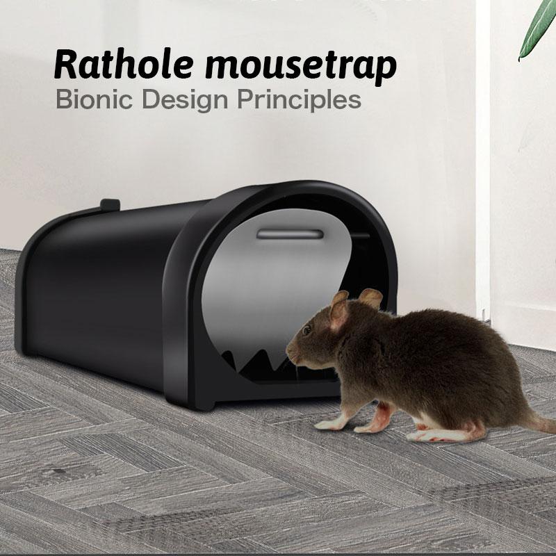 Reusable Rat Cage Catch Mice Rodent Control Catch Bait Hamster Mouse Trap Transparent Humane Live Mousetrap @