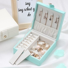 Multifunction Concise Portable Jewelry Storage Box Ring Earrings Necklace