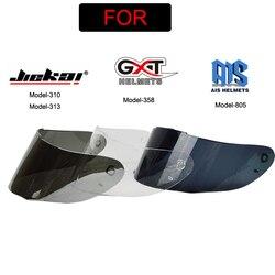 Motocykl kask fullface osłona obiektywu kask motocrossowy osłony osłona twarzy kolor dla JIEKAI 313 310 i GXT 358 AIS 805 kask w Akcesoria do wyposażenia ochronnego od Samochody i motocykle na