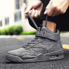 High Top Damping Sneaker Men Lace-Up Casual Footwear Male Chunky Shoes For Men Fashionable Comfortable Vulcanize Shoes Man(China)