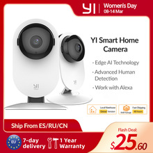 Home-Camera Surveillance-System Night-Vision Indoor Yi 1080p Home/office-Monitor White