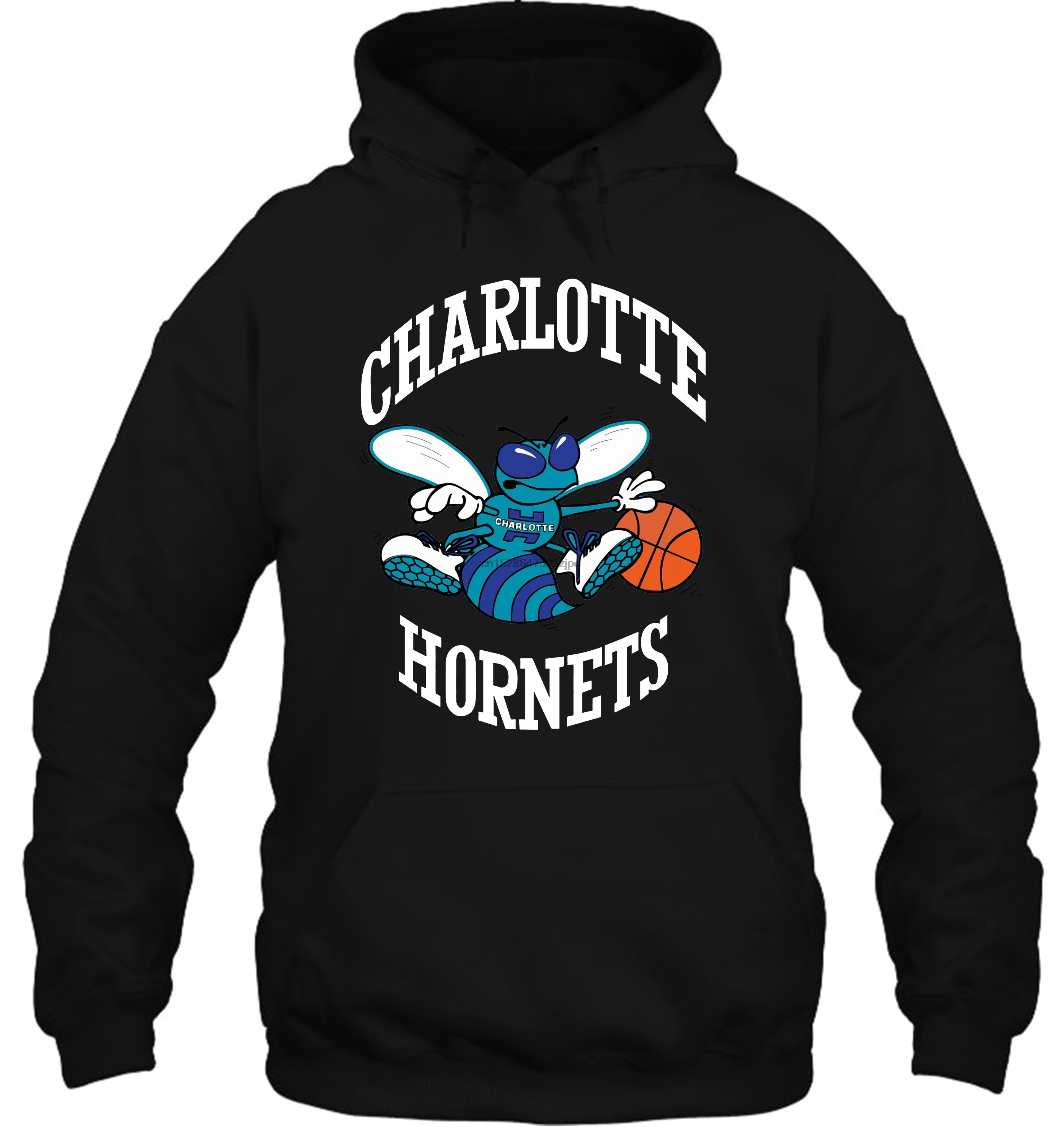 Mitchell & Ness Charlotte Hornets Larry Johnson Caricattrad Chahor Roy Streetwear Men Women Hoodies Sweatshirts