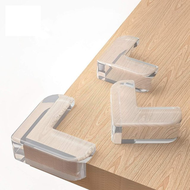 12Pcs/set Baby Safety L Shape Transparent Protector Cover Table Corner Guards Children Protection Furnitures Edge Corner Guards 2