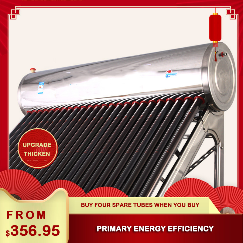Integrated 18 / 20 Tube Host Water Heater Household Style 304 Stainless Steel Solar Water Heater Photoelectric Dual-use Smart