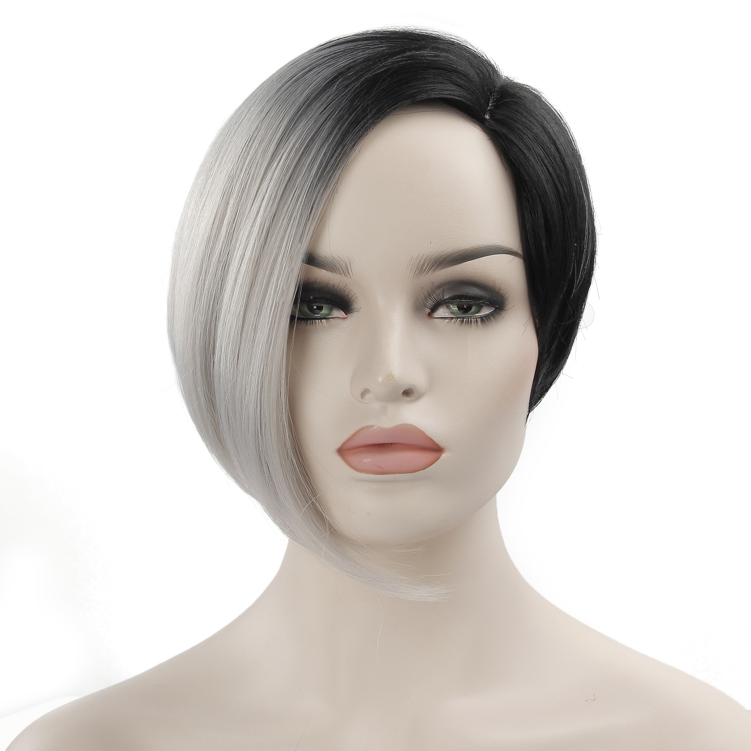 Short Black Wigs For Women Synthetic Hair  Female Heat Resistant Fiber Color Ombre Grey Wigs Cosplay Baby