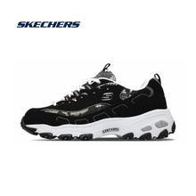 Skechers Shoes Woman Casual Shoes Chunky Shoes Platform D'lites Comfortable Sneakers Woman zapatos de mujer 13082-BKW