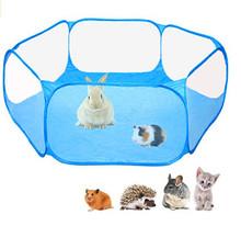 Kojec dla zwierząt przenośne Pop małe zwierzę klatka gra plac zabaw dla chomika szynszyle i świnki morskie psia buda tanie tanio Polyester foldable pet fence