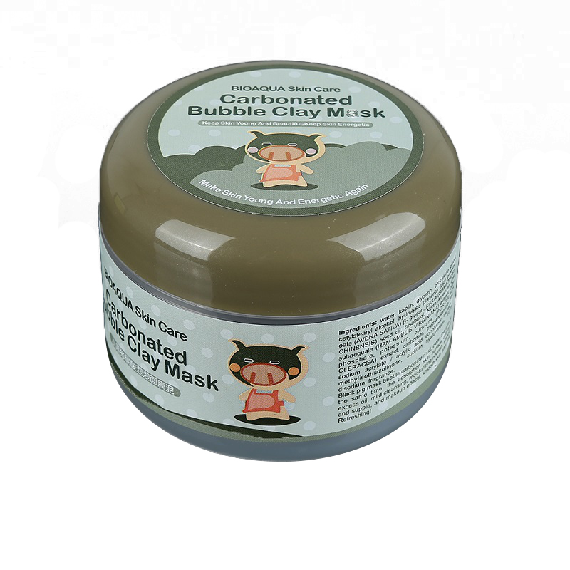Carbonated Bubble Clay Mask Deep Cleaning Face Mask Winter Moisturizing Mud Face Skin Care 100ml Dropship TSLM2