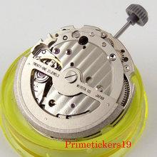 Alta qualidade mecânica 21 jóias miyota 821a 8215 movimento automático hack segunda parada ajuste relógio masculino com exibição de data