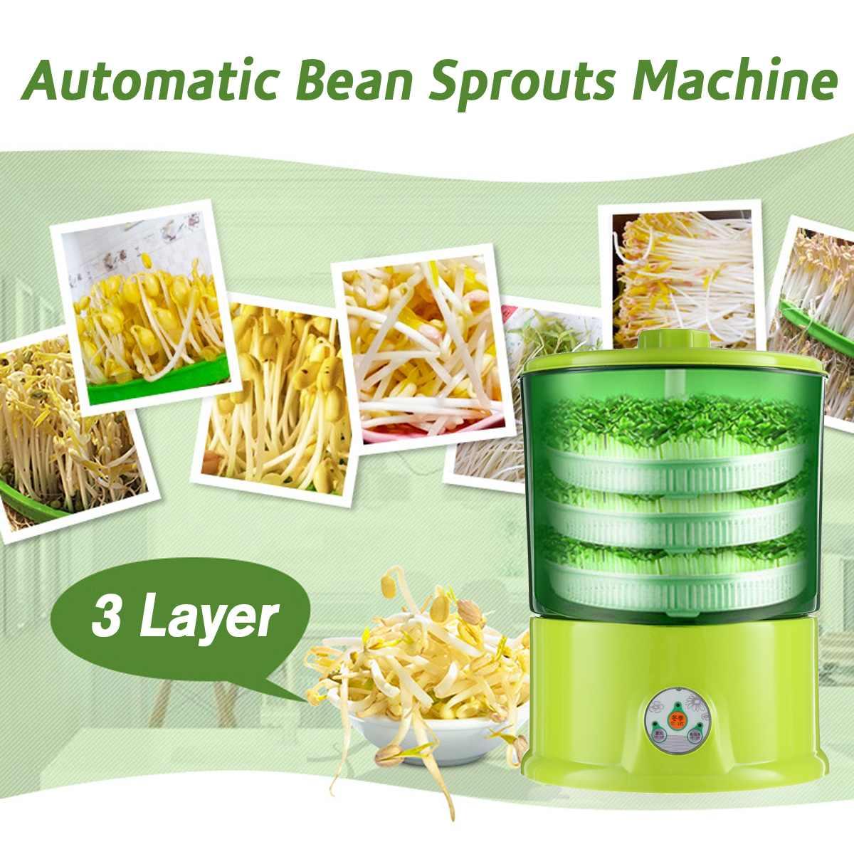 Аппарат для домашнего использования, трехслойный термостат для выращивания зеленых семян, автоматическая машина для розлива бобов, больша...
