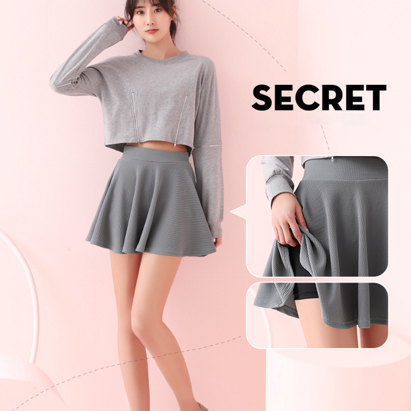 Spring And Autumn Summer Breathable Anti-empty Short Skirt Golf Tennis Sports Skirt Slim Fashion Outdoor Sports Pleated Skirt