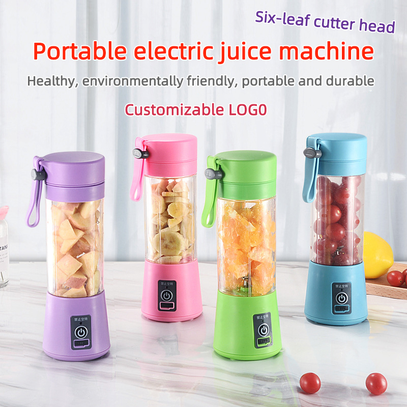 Portable Mixer USB Electric Fruit Juicer Handheld Smoothie Maker Blender Stirring Rechargeable Mini Food Processor Juice Cup