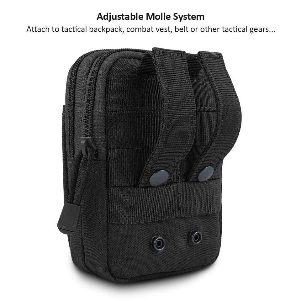 Tactical EDC Utility Gadget Sacchetto Della Vita Militare iPhone 7 Samsung Molle Pouch Cintura Fondina Outdoor Sacchetto di Campeggio Arrampicata