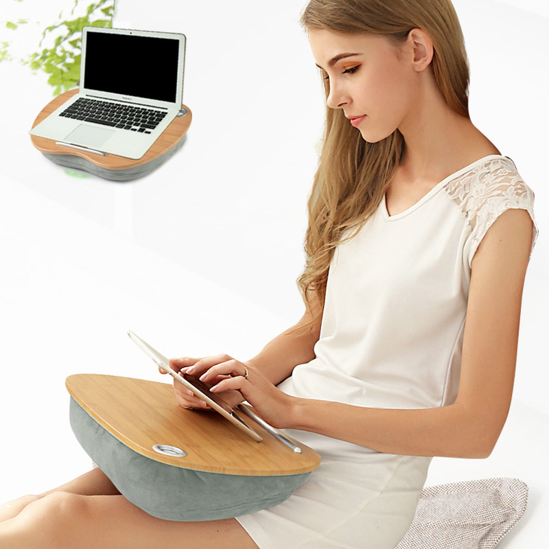 Portable Bamboo Laptop Table Creative Lap Top Table Convenient Tablet Stand Handy Learning Desk Holder For Bed Notebook Outdoor