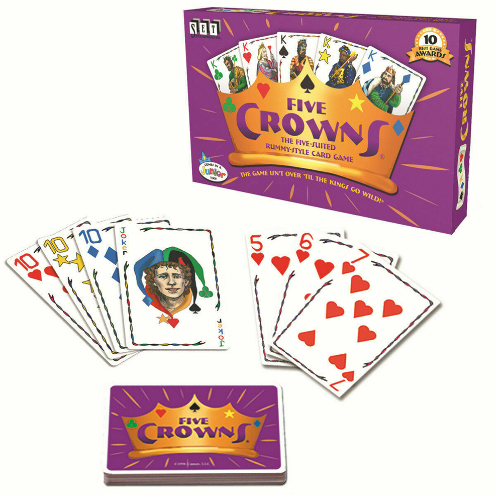 Five Crowns Gift Playing Card Game Club Table Family Gathering Interactive Home Educational Toy Travel Funny For Children Adluts