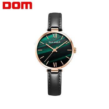 DOM Brand Luxury Women Watches Fashion Quartz Ladies Watch Ultra thin Waterproof Relogio Feminino Clock Wristwatch  G-1286GL-3M
