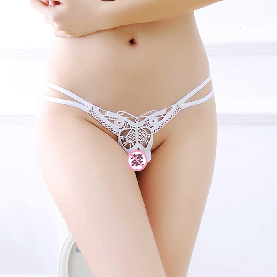 진주 자극 G-스팟 섹시한 비키니 가죽 끈 미니 마이크로 비키니 수영복 여성용 투명 엉덩이 팬티 란제리 속옷