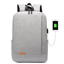 Водонепроницаемый нейлоновый рюкзак для ноутбука 14 дюймов, модные школьные ранцы, повседневная школьная сумка с USB-зарядкой для мужчин и же...