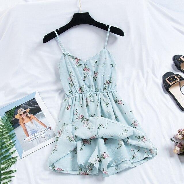 robe-courte-boheme-imprime-fleuri