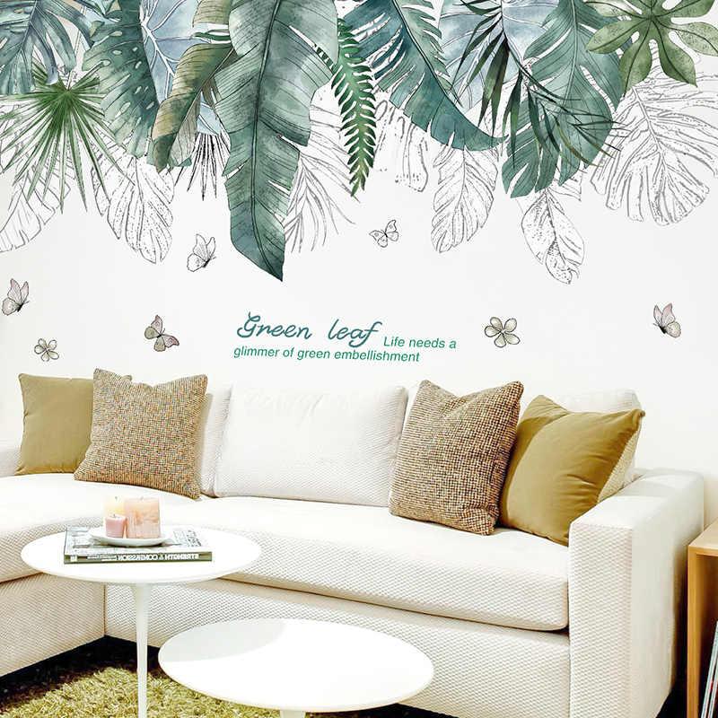 [SHIJUEHEZI] тропические листья дерева наклейки на стену s DIY растение Наклейки стены