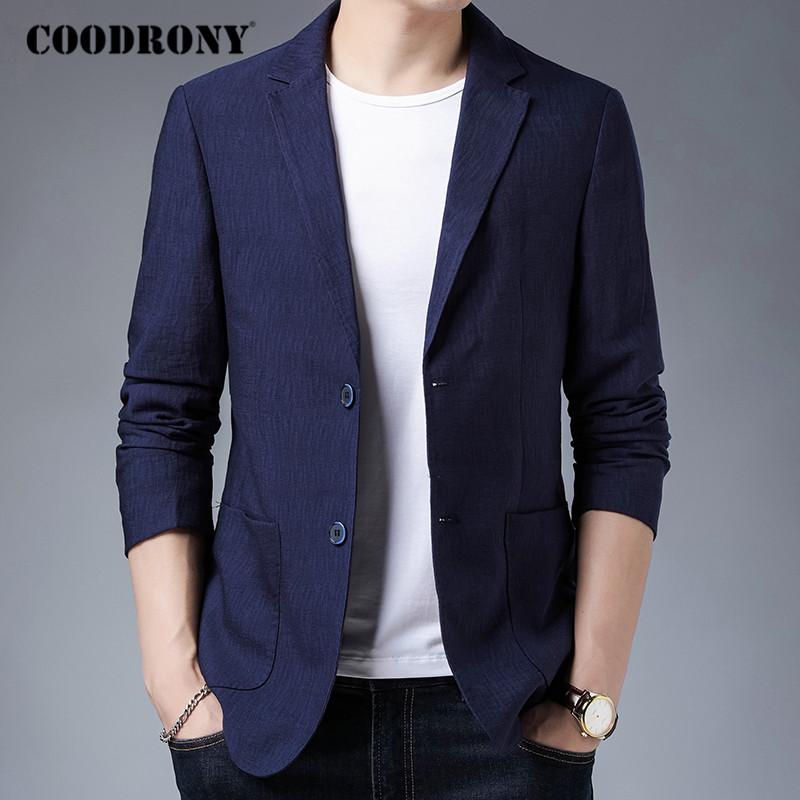 COODRONY Brand Mens Suit Coat 2020 Autumn Winter New Arrival Blazer Men High Quality Fashion Casual Top Clothing Man Dress C8027 1