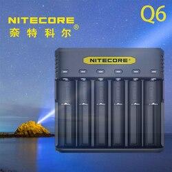 NITECORE Q6 Q Serie 6 Slots Snellader met Compact Size Perfect compatibel met 20700 en 21700 batterijen