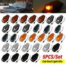 5 adet LED araç Cab çatı işaretleyici ışıkları Lens gümrükleme Marker LED tavan lambaları dome FORD F150 F250 f350 1980 1997
