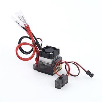 Wysokie napięcie 6-12V 320A wodoodporna szczotkowana prędkość ESC kontroler wentylator elektryczny szczotkowany silnik ESC do zdalnie sterowana ciężarówka Buggy Boat tanie i dobre opinie CN (pochodzenie) Composite Material Battery Tires Antennas Pojazdów i zabawki zdalnie sterowane Wartość 2 Remote Controller