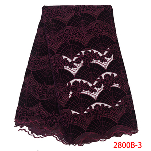 Image 2 - Wholesale Velvet Lace Fabrics New Arrival Fashion African Lace Fabric for Wedding Party High Quality Nigerian Mesh Lace APW2800B