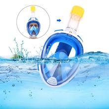 قناع الغطس السطحي تحت الماء قناع الغطس مكافحة الضباب كامل الوجه النساء الرجال الاطفال السباحة الغوص معدات غطس ل Gopro SJ4000
