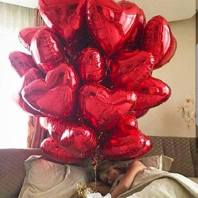 50 Pcs 18 Pollici Aerostati Della Stagnola Del Cuore di San Valentino in Oro Rosa Rosso Decorazione di Cerimonia Nuziale Palloncino di Elio Rifornimenti Del Partito di Compleanno Della Ragazza Del Ragazzo
