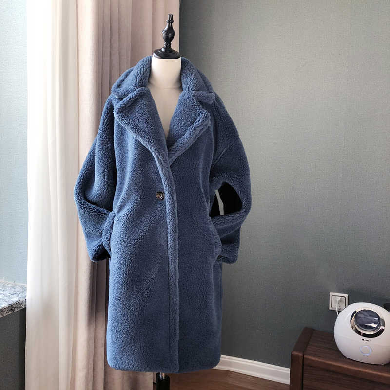 Casaco de inverno feminino casaco de pele do falso de luxo casaco de pele longa jaqueta de pelúcia solto lapela shaggy casaco mais inverno grosso quente fofo