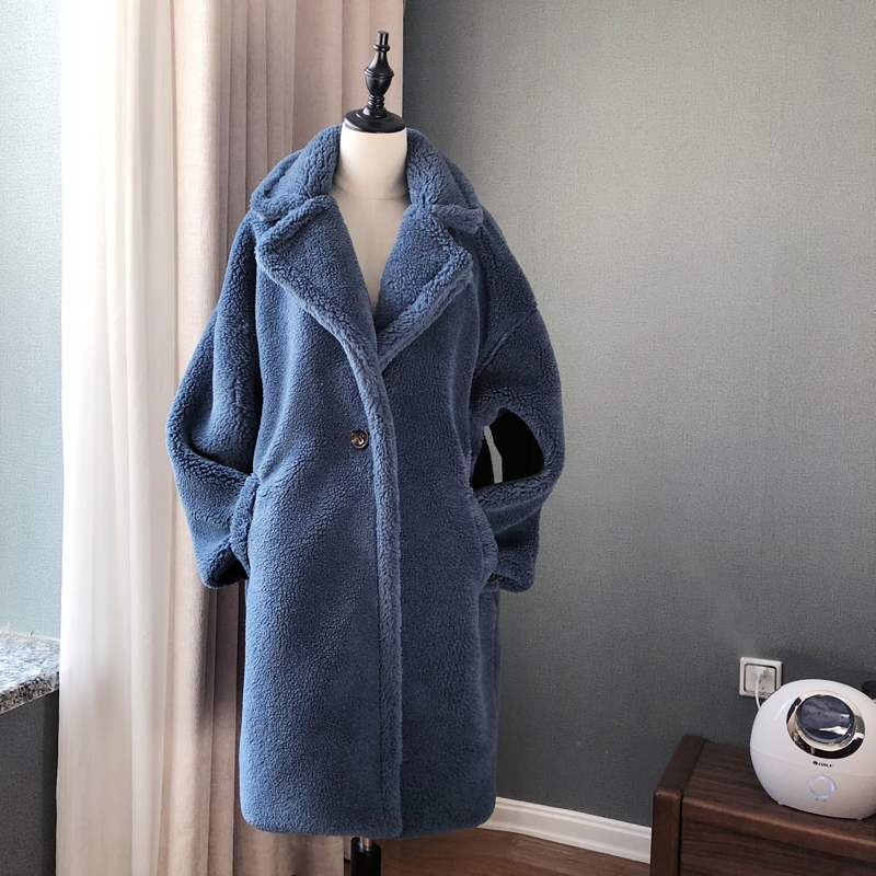 Image 3 - Winter Overcoat Women Faux Fur Coat Luxury Long Fur Coat teddy  Jacket Loose Lapel Shaggy Coat Plus Winter Thick Warm FluffyFaux Fur