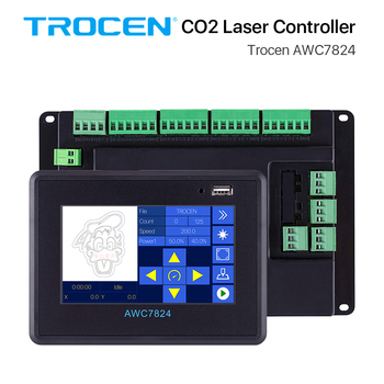 Trocen AWC7824 CO2 Laser Controller System DSP for Two Co2 Laser Heads Engraver Cutting Replace Ruida Leetro RDC6442 AWC708S greenhouse co2 controller smart farming co2 controller hydroponics copnograph co2 sensor