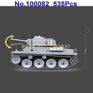Image 4 - 535 個ww2 軍事lt 38 ドイツライトタンク兵士の武器世界戦争ii武器 2 ビルディングブロックのおもちゃ