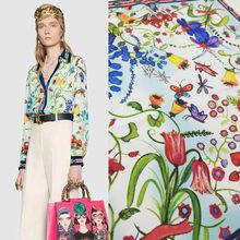 Italian Fashion Brand Printed 100% Polyester Fabric Brand Sleepwear and Diy Shirt Cloth Fabrics for Dress Sewing Per Meter Mater