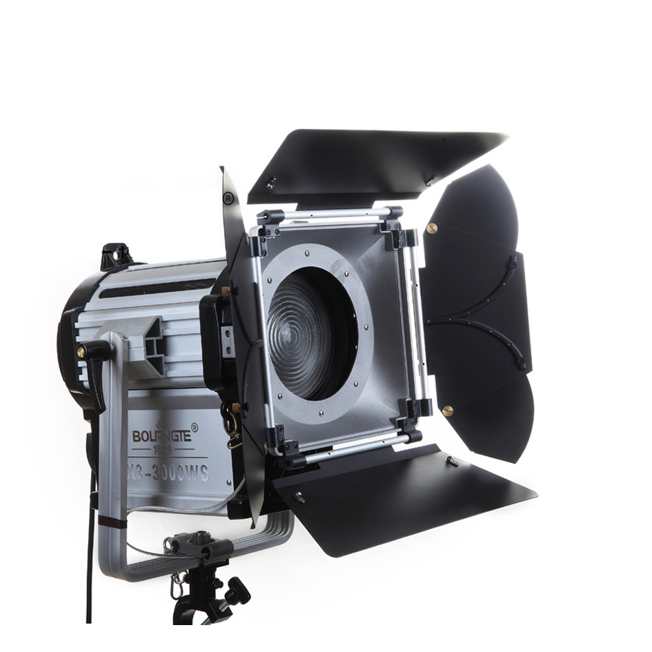 ALUMOTECH 300W LED Fresnel Dimmable Bi color Wireless Remote Spotlight For Photography Video Studio Lighting Support