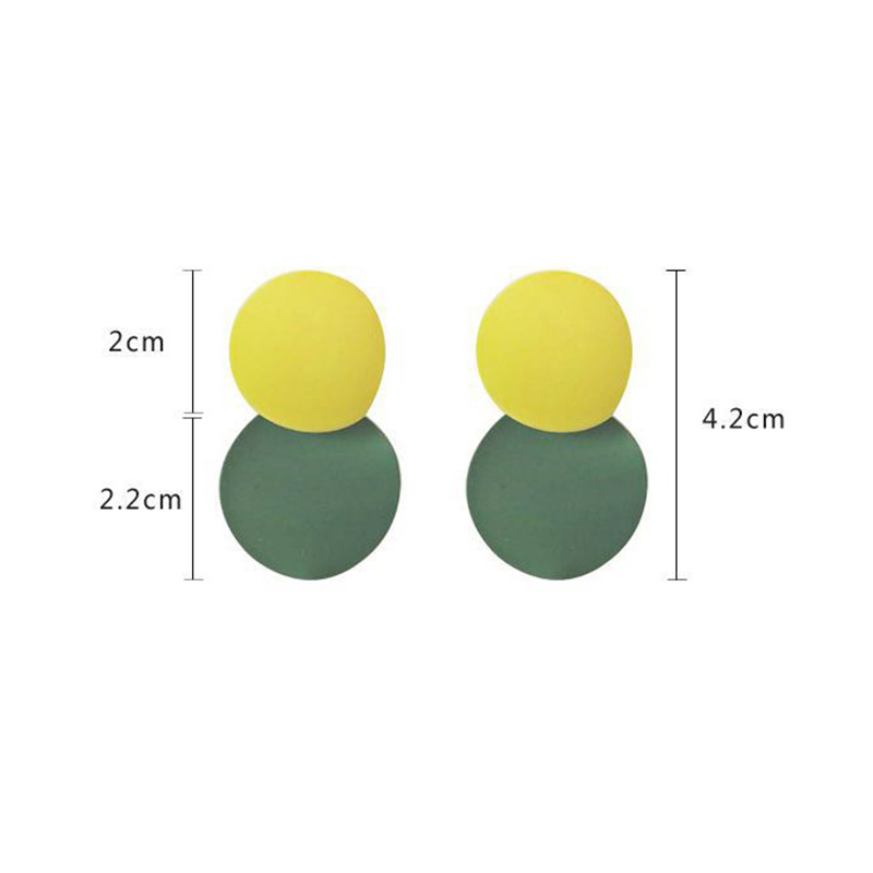 XZP Vintage Matte gold geometric drop earrings 4 colors round pendant earrings for women elegant gift jewelry earrings 2019 in Drop Earrings from Jewelry Accessories
