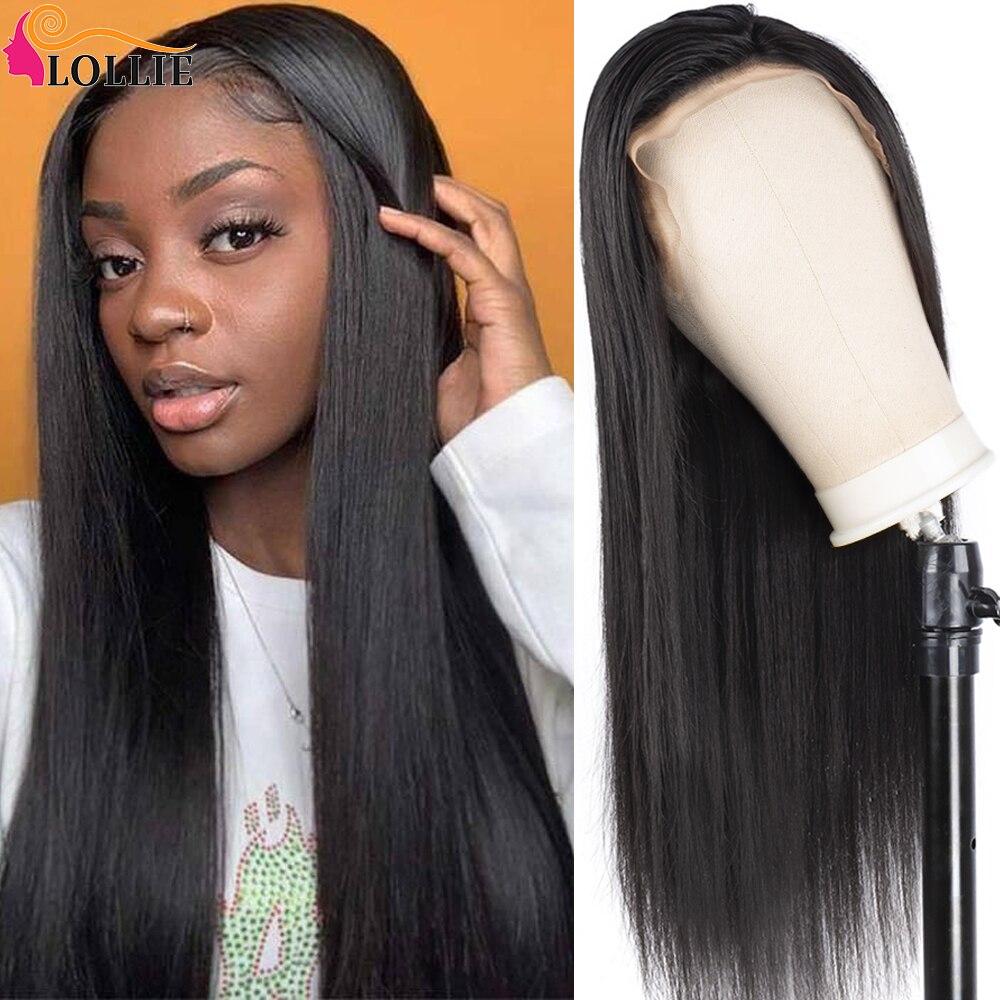 lollie peruca dianteira do laco em linha reta cor natural peruca de cabelo em linha reta
