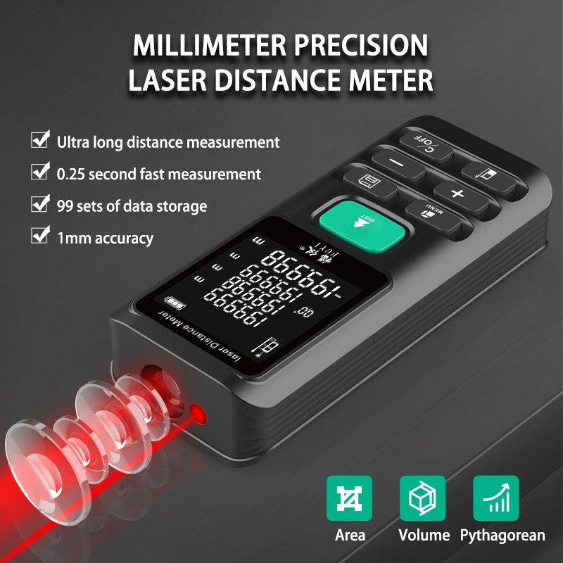 Mastfuyi лазерный дальномер 70 м 120 м цифровой лазерный дальномер лента расстояние измерить линейкой Тесты инструмент