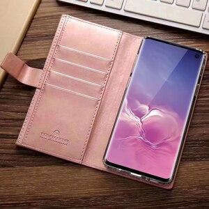 Image 5 - Luxe Kaarthouder Wallet Case Voor Samsung Galaxy S20 Ultra 5G S10 Plus S9 S8 A21s Leer Rits Flip magnetische Telefoon Bag Cover