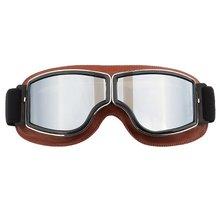 Винтажные ветрозащитные очки, мотоциклетные кожаные очки, ретро очки для езды по бездорожью