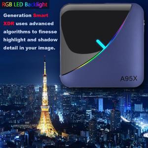 Image 2 - A95X F3 חכם טלוויזיה תיבת RGB אור אנדרואיד 9.0 Amlogic S905X3 4G 32G 64G Wifi BT סט למעלה תיבת Youtube 8 K 4 K Media Player