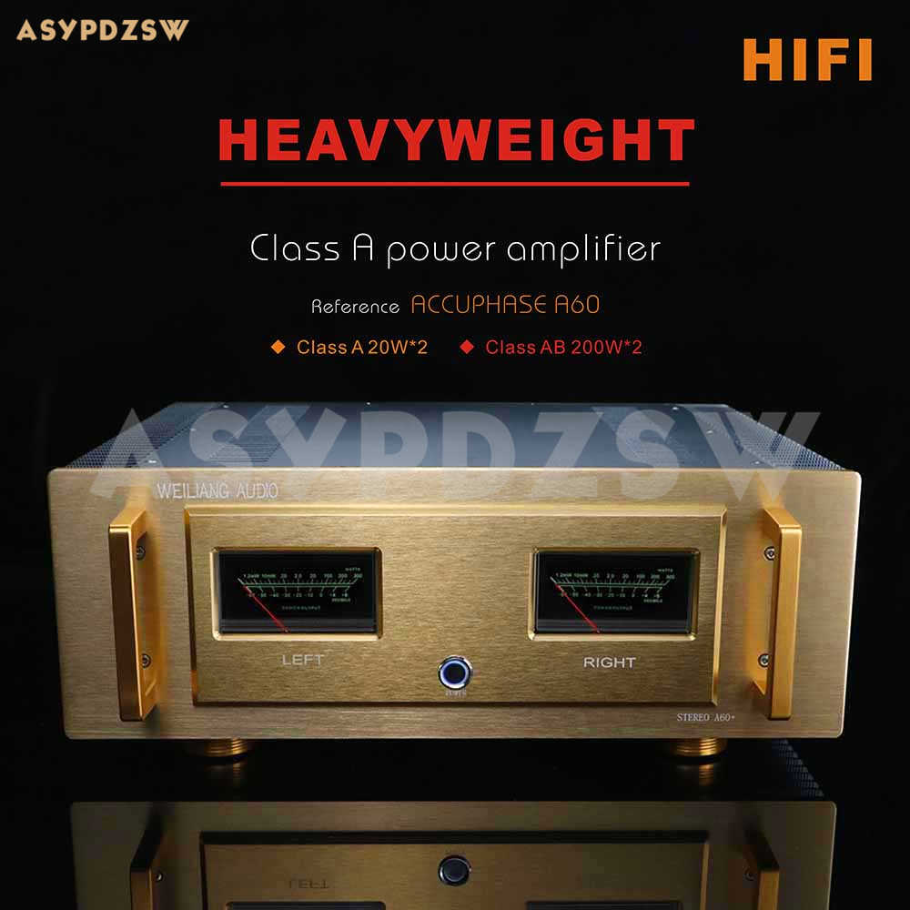 HIFI A60 + טהור מגבר כוח התייחסות accuphase A60 הנוכחי 20W * 2 כיתת AB 200W * 2