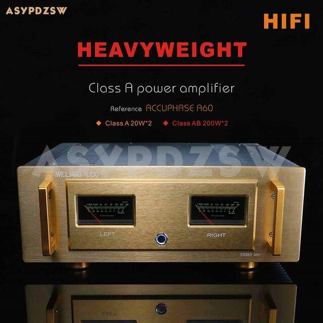 Hifi A60 + Pure Klasse Een Eindversterker Referentie Accuphase A60 Huidige 2SA1943/2SC5200 Of MJL4281A MJL4302 20W * 2 Klasse Ab 200W * 2