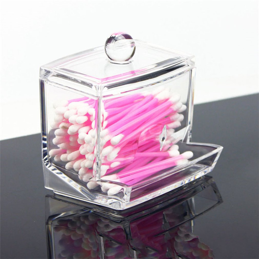 Acrylic Makeup Brush Holder Organizer Square Cosmetic Storage Containers