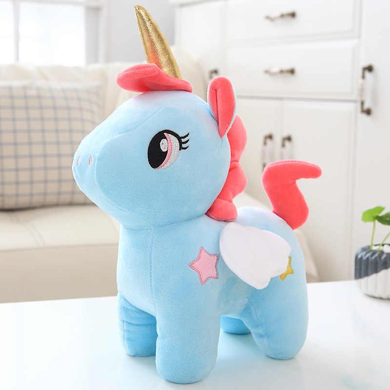 12cm Nette Einhorn Plüsch Spielzeug Gefüllte Unicornio Tier Puppen Weich Cartoon Spielzeug für Kinder Mädchen Kinder Geburtstag Geschenk