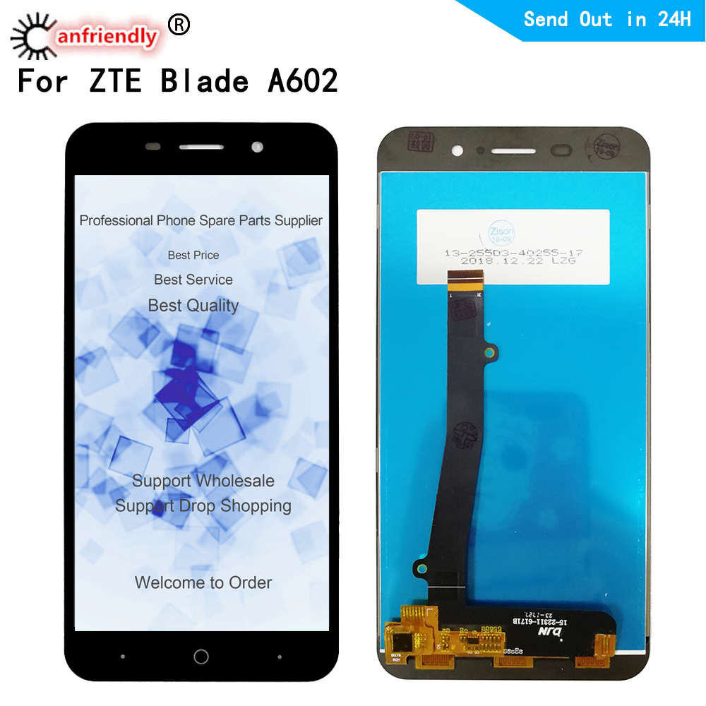 <font><b>LCD</b></font> For <font><b>ZTE</b></font> <font><b>Blade</b></font> <font><b>A602</b></font> <font><b>LCD</b></font> <font><b>Display</b></font>+Touch panel Screen Replacement Digitizer Assembly For <font><b>ZTE</b></font> <font><b>Blade</b></font> <font><b>A602</b></font> <font><b>Display</b></font> Phone Repair image